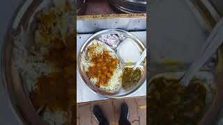 Chole bhature sabji chawal #Shorts Indian street food