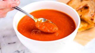 Томатный суп с сухариками за 20 минут