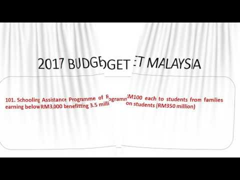 2017 BUDGET MALAYSIA