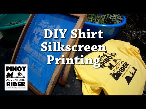 DIY Shirt Silkscreen Printing From Start To Finish In Just 8 Minutes!