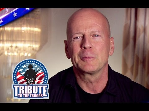 Will Ferrell, Bruce Willis and other famous media personalities honor the United States Military