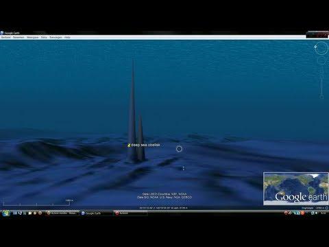 Deep sea Obelisk on Google earth
