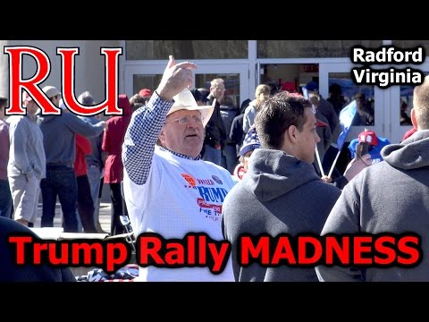Vlog - Donald Trump Rally MADNESS in Radford Virginia (Radford University) - Make America Dank Again