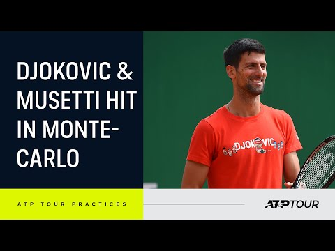Sensational Djokovic & Musetti Practice In Monte-Carlo