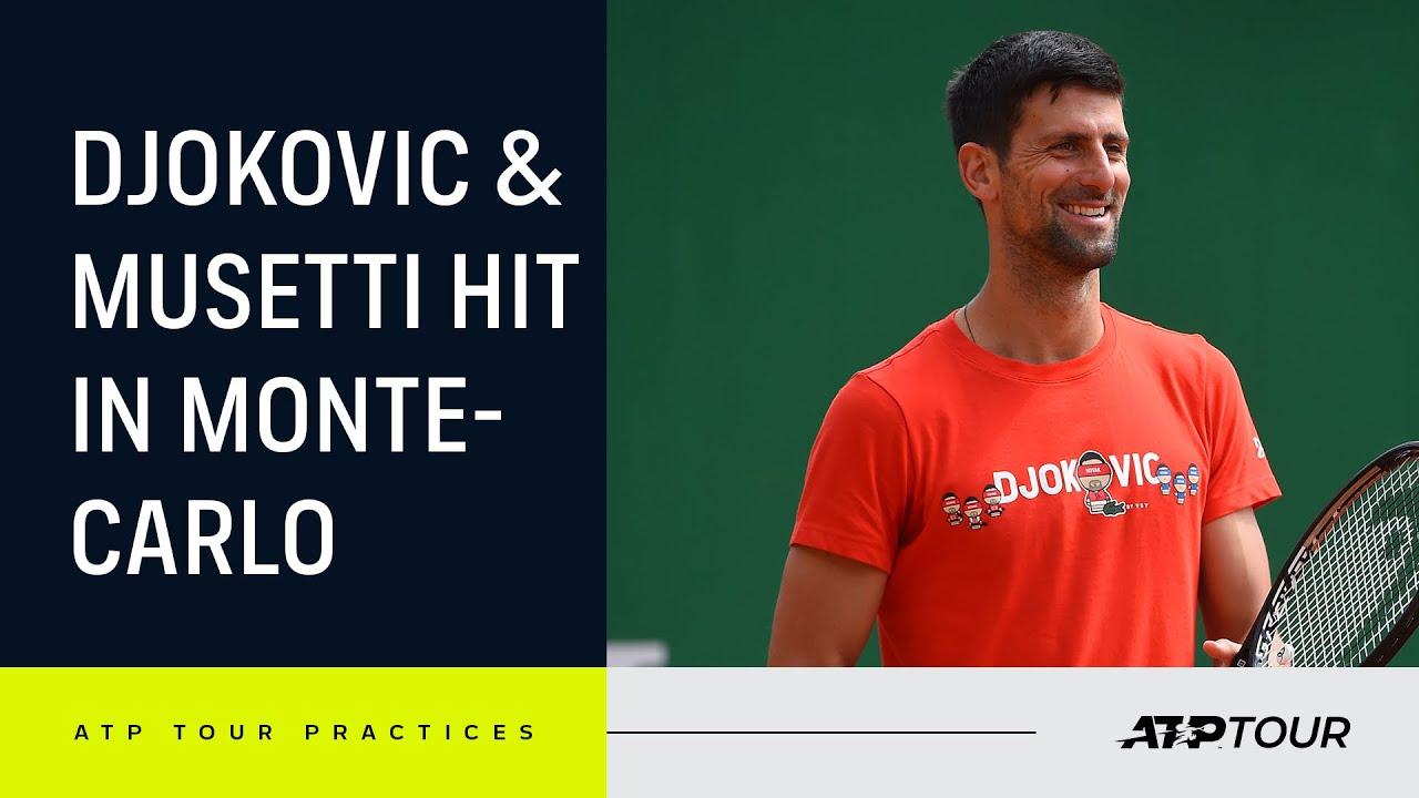 Download Sensational Djokovic & Musetti Practice In Monte-Carlo