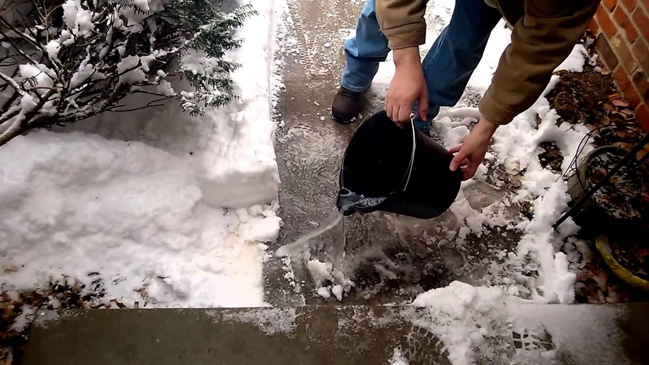 Can you melt sidewalk ice with dawn dish soap youtube solutioingenieria Gallery