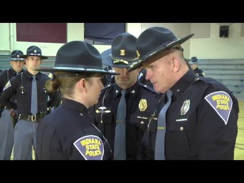 Indiana State Police     Early Morning Pinning 2015