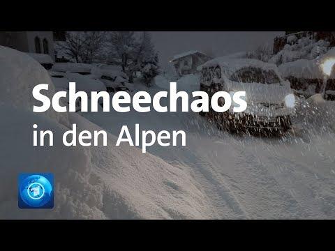 Lawinengefahr in Bayern und Österreich