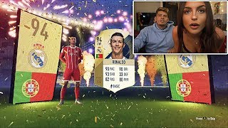 Omfg my girlfriend gets me ronaldo & icon (fifa 18 greatest return pack opening)