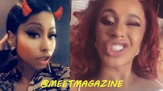 Nicki Minaj fight vs Cardi B on twitter news! Is Cardi's career in jeopardy? #LHHNY