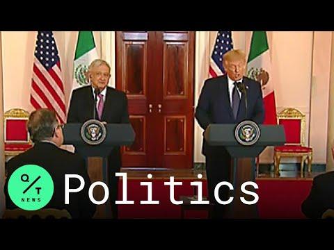 Trump, Mexican President Andrés Manuel López Obrador Deliver Joint Statement