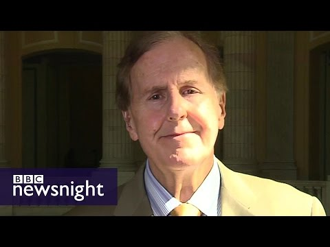 Congressman Pittenger: Charlotte protestors 'hate white people' - BBC Newsnight