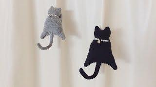 猫ピンチの作り方★無料型紙ダウンロード★けーことん