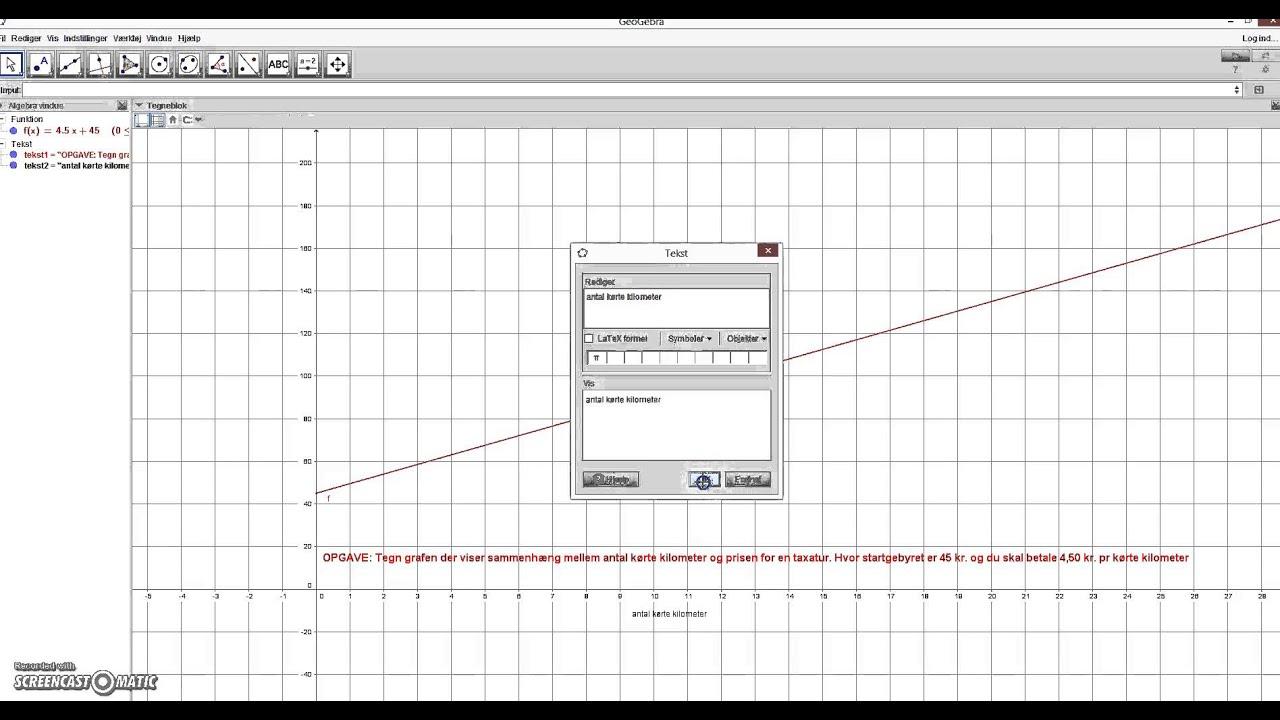 Tegn graf i GeoGebra