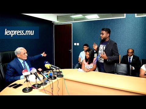 Expulsion de l'express de la conférence de presse de Lutchmeenaraidoo: la vérité