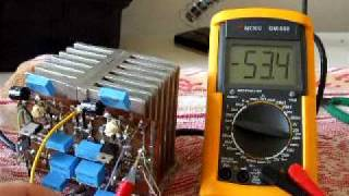 Electronic supply rail loading test, 2 27 amperes and 50 7 volts