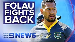 Israel Folau Challenges Rugby Australia's Contract Termination   Nine News Australia