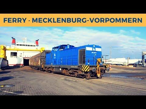 Ferry MECKLENBURG-VORPOMMERN in Rostock; Press 293 046-7 shunting Cargo Train
