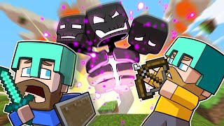 FIGHTING THE WITHER BOSS! | Minecraft