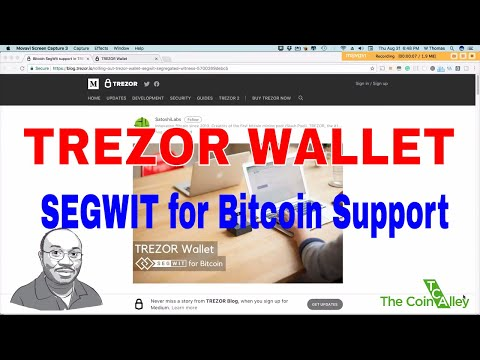 Trezor Wallet | Segwit For Bitcoin Support - How To Tutorial