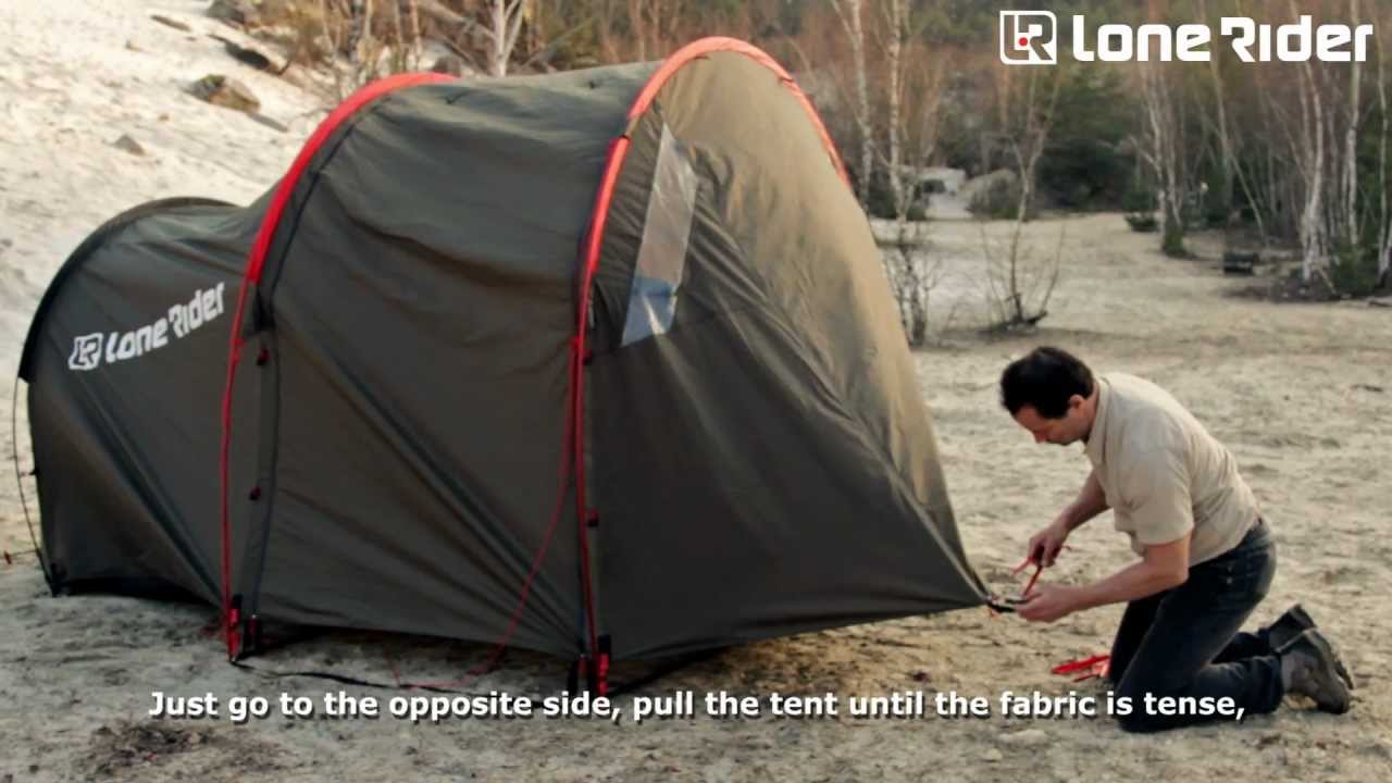 How to set up the Motorcycle Tent MOTOTENT - YouTube