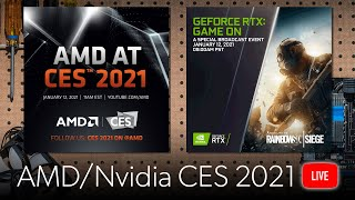 Watch AMD & Nvidia CES 2021 keynotes with PCWorld!