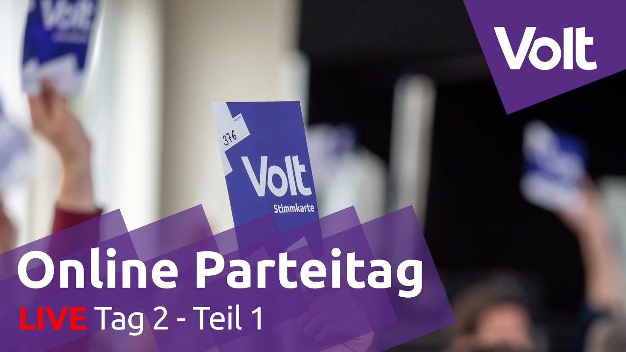 YouTube: Online Parteitag Tag 2 - 16.08.2020 | #VoteVolt