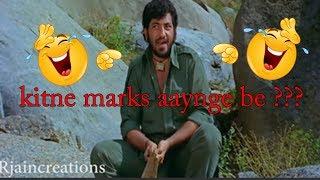| Sholay Movie Spoof | Abe Oye  tujhe kitne marks aaynge be