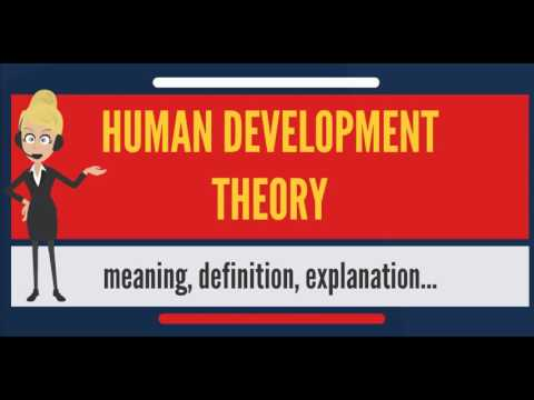 What is HUMAN DEVELOPMENT THEORY? What does HUMAN DEVELOPMENT THEORY mean?