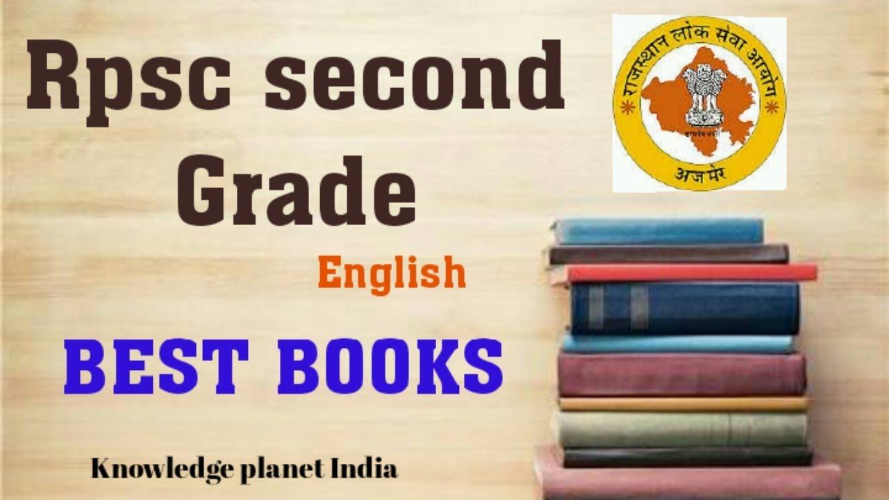 Best Books For Rpsc 2nd Grade English Exam 2018 Second Grade