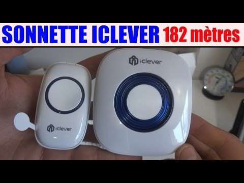 Sonnette Iclever Amazon 182 Mètres Longue Portée Présentation Test Avis Prix
