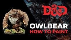 D&D Owlbear Painting Tutorial