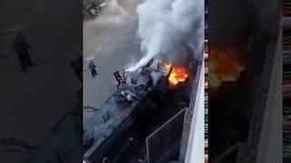 Огненный ремонт КамАЗа бензовоза.
