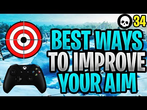 The BEST Way To Improve Aim For Controller Fortnite! (Fortnite How To Aim PS4 + Xbox)