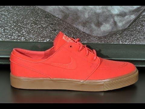 563b654d33d4 Nike SB Zoom Stefan Janoski (Hyper Red) Canvas Shoe - YouTube