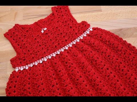 Vestido Crochet para bebe 6-12 meses - YouTube 7a6e04374862