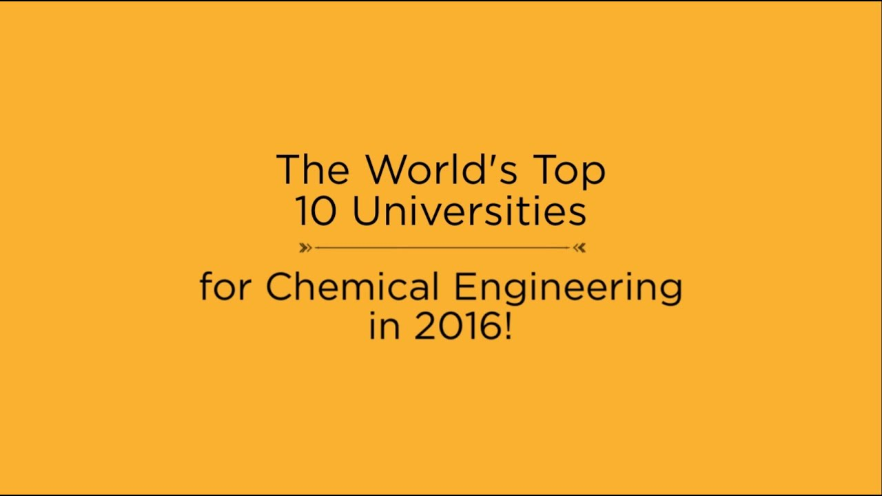 Masters in Chemical Engineering | Top Universities