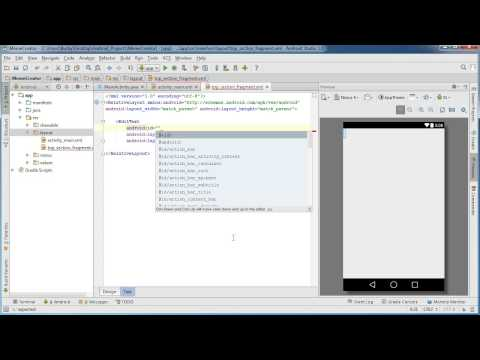 Android App Development for Beginners – 24 – Designing the Top Fragment