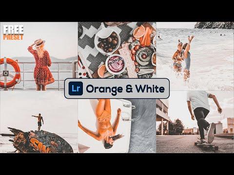 Lightroom Mobile Preset : How To Edit Orange & White Tones Tutorial