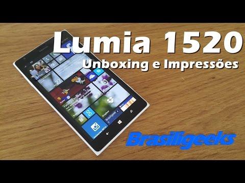 Lumia 1520 - Unboxing e Impressões