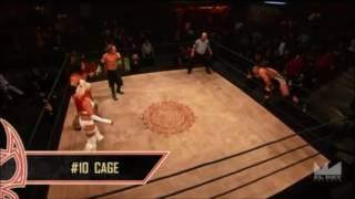 Cage makes his Entrance Aztec Warfare Lucha Underground  S02E09 03/23/16
