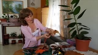 Мастер класс для начинающих.  Как сделать украшение из кожи. Как  декорировать сумку в осеннем стиле