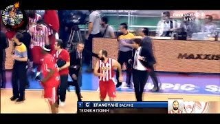 Panathinaikos - Olympiakos Basket  02.05.15 // Pyro-Greece