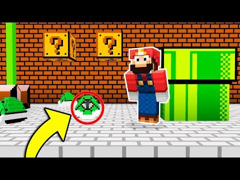 SUPER MARIO NO ME ENCONTRARÁ EN ESTE ESCONDITE 😂 MINECRAFT  TROLL