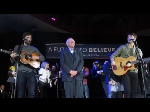 """Bernie Sanders """"This Land Is Your Land"""" Vampire Weekend Foster The People Josh Hutcherson 1/30/16"""