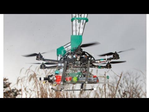 Drones que disparan bolas de fuego