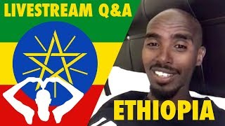 Mo Farah Live in Ethiopia 🇪🇹 | Q&A Including How to Breathe While Running