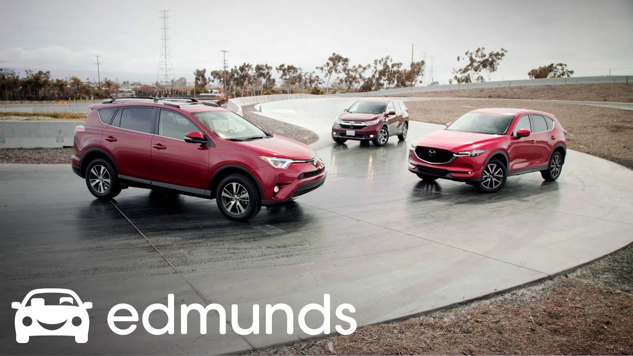 Top Suvs Track Tested Honda Cr V Toyota Rav4 And Mazda Cx 5 Who Wins Edmunds