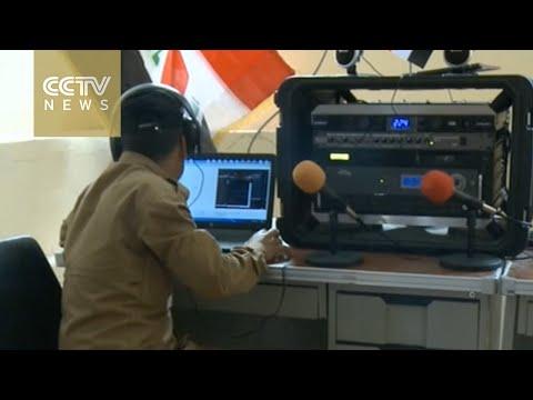 Iraqi army uses radio to help civilians avoid blasts