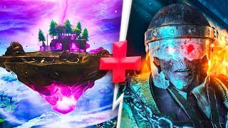 El cubo de Fortnite explota y juego a Zombies - TheGrefg